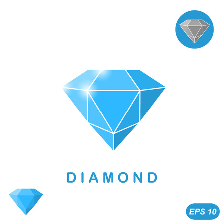 adamant: Adamant jewel isometric illustration, 3d vector, Illustration