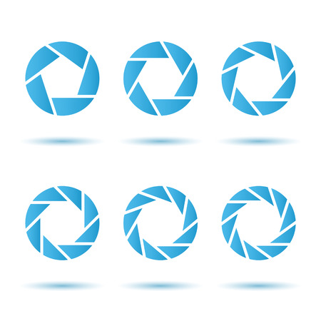 segmented: Segmented circle signs, 3d vector on white background with shadows, isolated