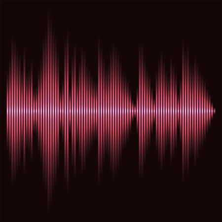 oscillation: Ecualizador bar, Ec abstracto, efecto de brillo, vector 2d sobre fondo oscuro