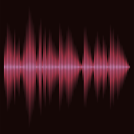 pulse: Equalizer bar, Eq abstract, glow effect, 2d vector on dark background Illustration