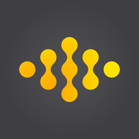 molecula: Enlace logotipo concepto conexión