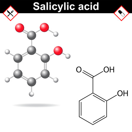 Salicylic acid - medical substance Иллюстрация