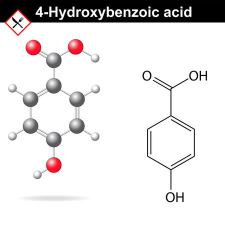 4-Hydroxybenzoic acid  Illustration