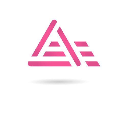 A letter logo, motion concept, 2d vector,