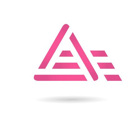 Une lettre logo, notion de mouvement, vecteur 2d, Banque d'images - 45061312
