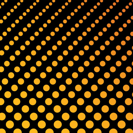 Dotted background pattern, orange and black color, haltone effect, clipping mask, 2d vector, eps 8