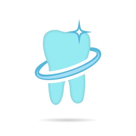 dent: Dental, dent icon on white background, 2d vector
