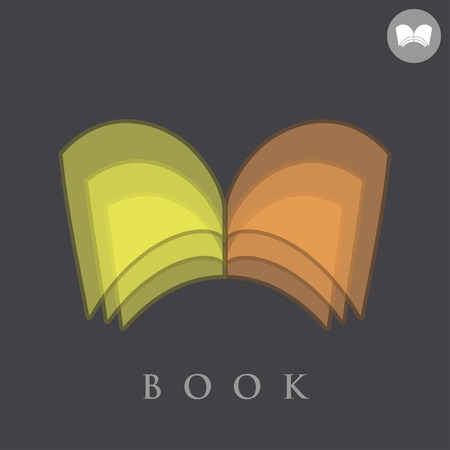 book concept: Book concept sign on dark background, writer icon, 3d vector Illustration