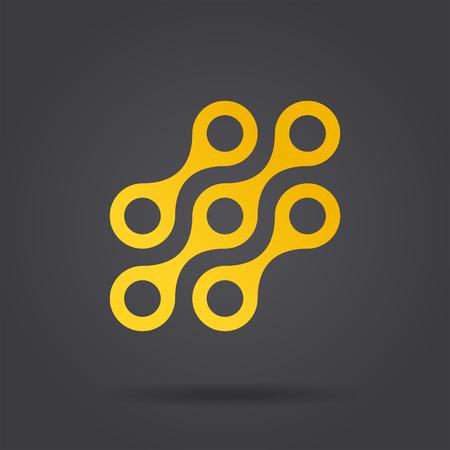 bonding: Link connection icon, bonding concept, 2d flat vector