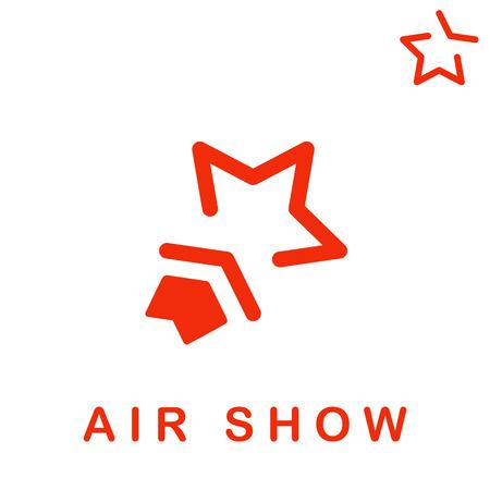 航空ショー: Star shape icon, air show concept, 2d vector  イラスト・ベクター素材