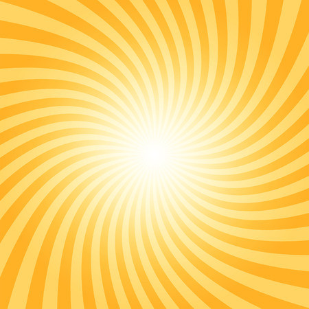 Sunray spiral pattern, orange color, 2d vector background  Иллюстрация