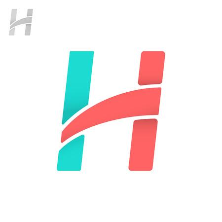 minimalistic: H letter logo, 2d minimalistic vector icon, eps 8