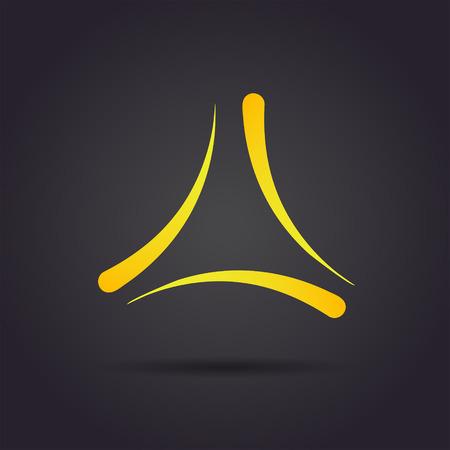 Trigon Delta Buchstaben Zeichen, 2D-Vektor-Logo auf dunklem Hintergrund, eps 10 Standard-Bild - 48220148