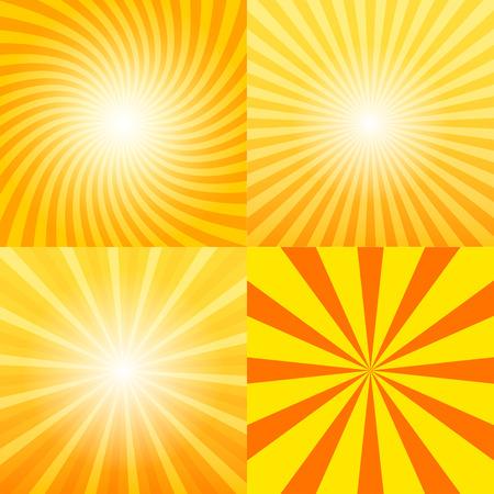 sunray: Sunray background set, 2d vector illustration, design elements, clipping mask, eps 10
