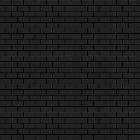 Dark brick wall, 2d vector seamless background, brick pattern, eps 10 Stock Illustratie