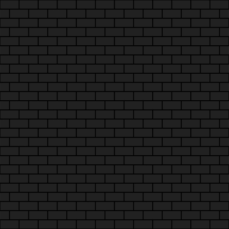 Dark brick wall, 2d vector seamless background, brick pattern, eps 10 Vectores