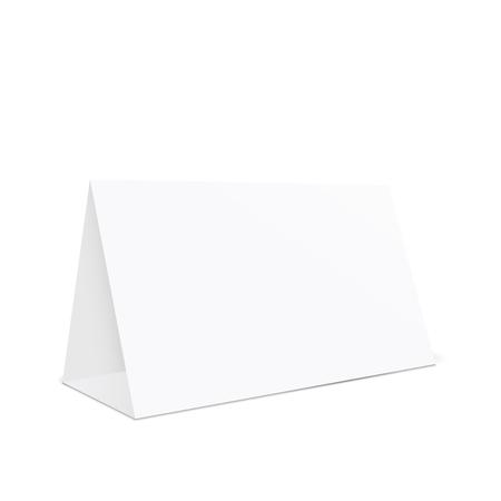 Blank tent holder, table stand holder, 3d illustration isolated on white background Illustration