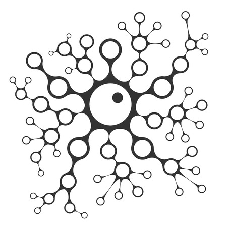 budding: Cell division concept illustration, 2d scientific chain vector, budding yeast