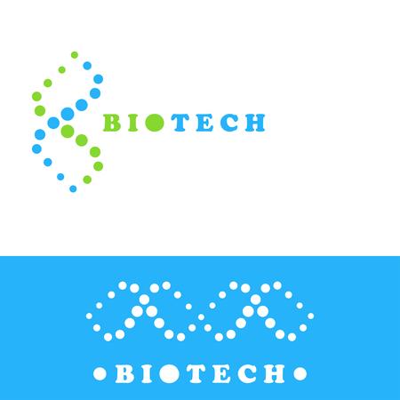 DNA logo sign, double helix symbol