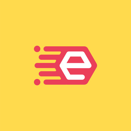 mailing: E letter icon, mailing concept, 2d icon