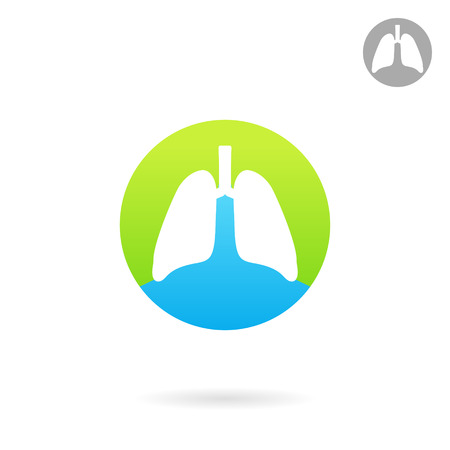 breathing exercise: Human lungs icon, medical icon Illustration