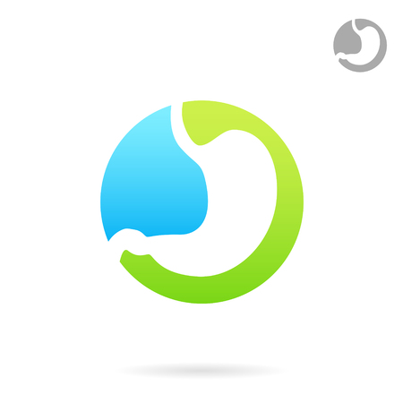 Treatment of gastrointestinal tract diseases, logo concept, 2d icon