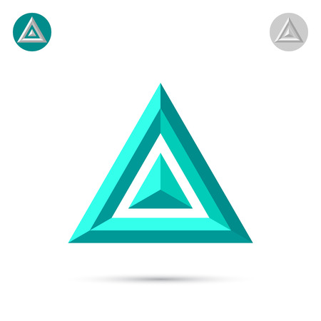 Delta letter icon, 2d triangle, vector illustration
