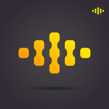 bonds: Connect sign, bonds and links, social media concept, 2d illustration on dark background, vector illustration