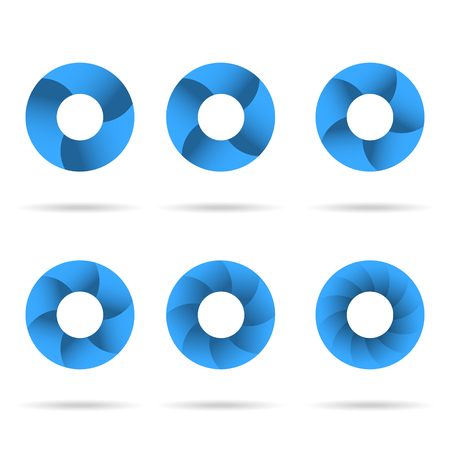 segmented: Circles segmented into parts set Illustration