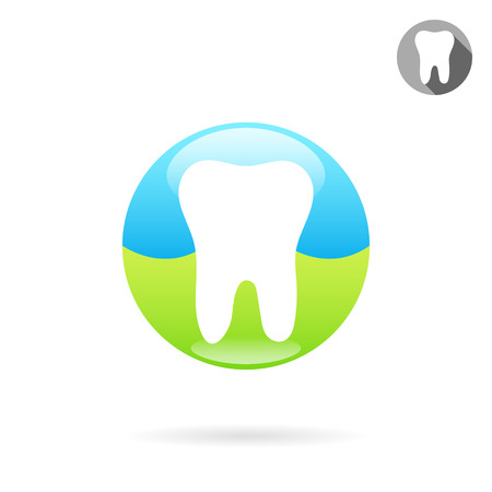 Tooth medical icon, concept of a healthy teeth, 2d medical vector icon, isolated on white background, Illustration