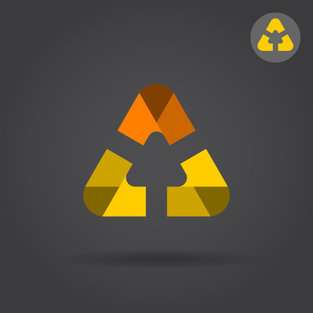 Delta letter icon with smooth rounded edges, 2d vector  icon, illustration on dark background,