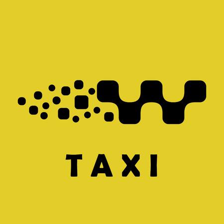 Taxi logo sign, car shape, 2d vector logo illustration