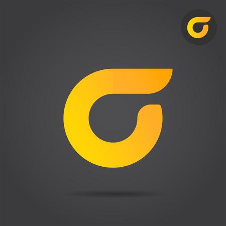 Sigma letter logo sign, 2d vector logo illustration, 2d icon on dark background