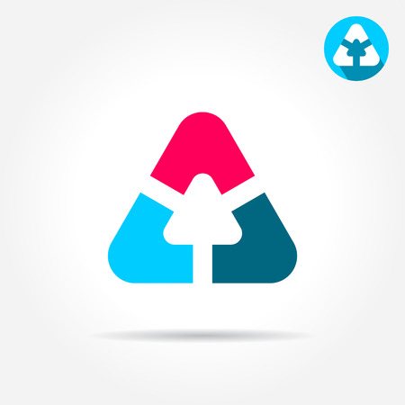 delta: Delta letter sign, triangle shape with smoth edges, 2d vector icon, illustration on gray background Illustration