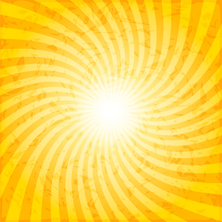 Textured spiral sunray vector background, 2d vector illustration, twisted background shape
