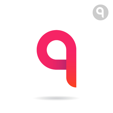 A and Q letter shapes, letter icon sign, 2d vector illustration 免版税图像 - 68357923