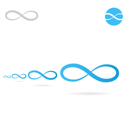 Infinity concet sign, infinite shape icon, 2d vector figure