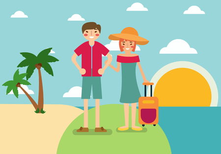 people holiday background Vector illustration.