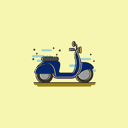A motor cycle icon on a plain background. Illustration