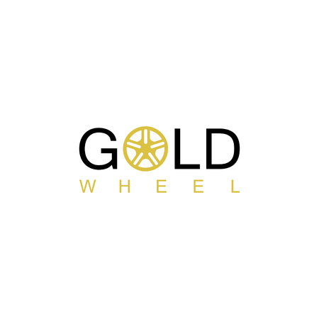Gold wheel logo Illustration