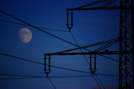 obudził: Sen obudził, księżyc nocą Zdjęcie Seryjne