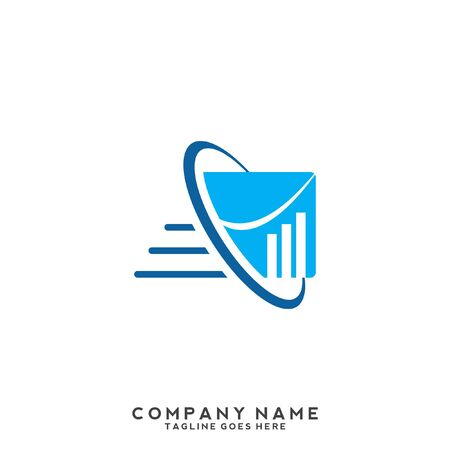 finance concept Business, growing graph logo, graph increases with the incorporation of hand elements that emphasize financial advisers
