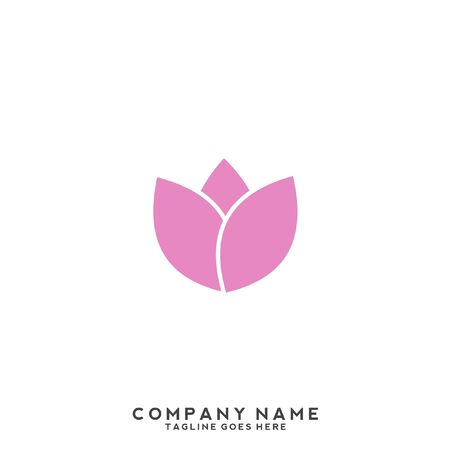Lotus flower logo with human silhouette