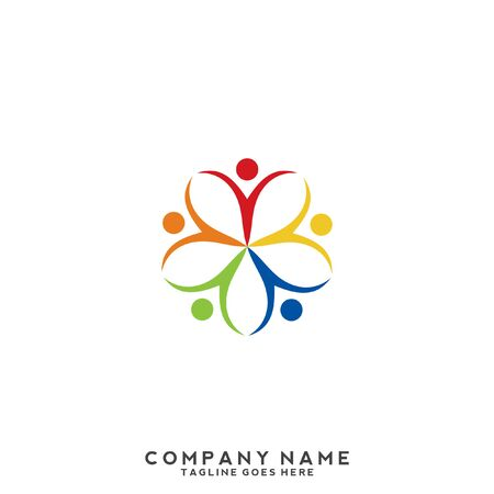 People, community, creative hub, social connection icons and logo 向量圖像