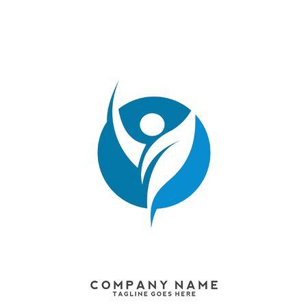Healthy Care Vector Logo Template. Medical health-care logo design template.