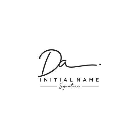 Letter DA Signature Logo Template Vector Logo