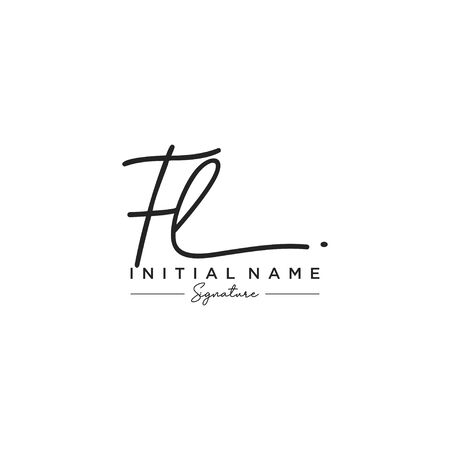 Letter FL Signature Logo Template Vector Logo