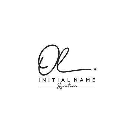 Letter OL Signature Logo Template Vector