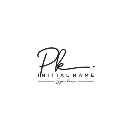 Letter PK Signature Logo Template Vector Logó