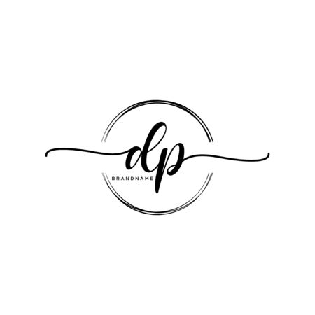 DP Initial handwriting with circle Vecteurs